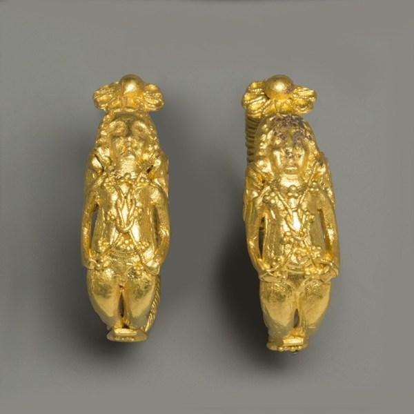 Hellenistic Gold Eros Earrings