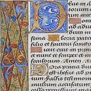Medieval book hours leaf