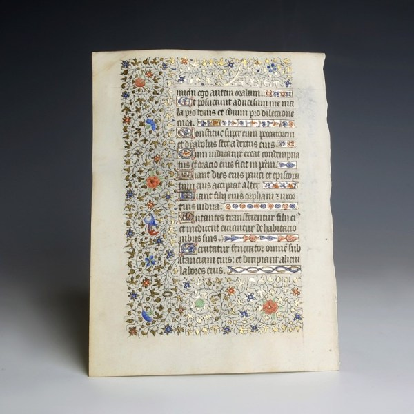 Opulently Decorated Book of Hours Manuscript
