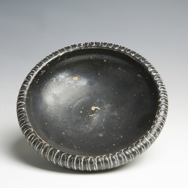 Greek South Italian Blackware Decorated Dish
