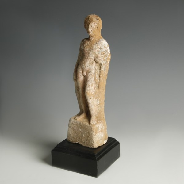 Boeotian Terracotta Statuette of a Youth
