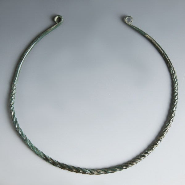 Richly Patinated European Bronze Age Neck Torc
