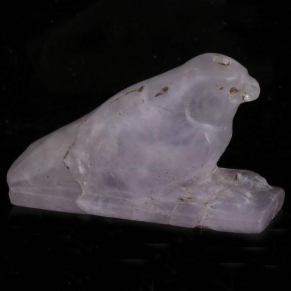 Egyptian Amethyst Horus of Nekhen Amulet