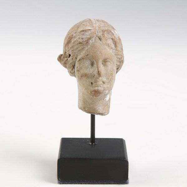 Greek Terracotta Head of a Women
