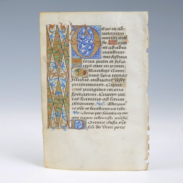 A Fine Illuminated Vellum Leaf from the Workshop of Jean Coene