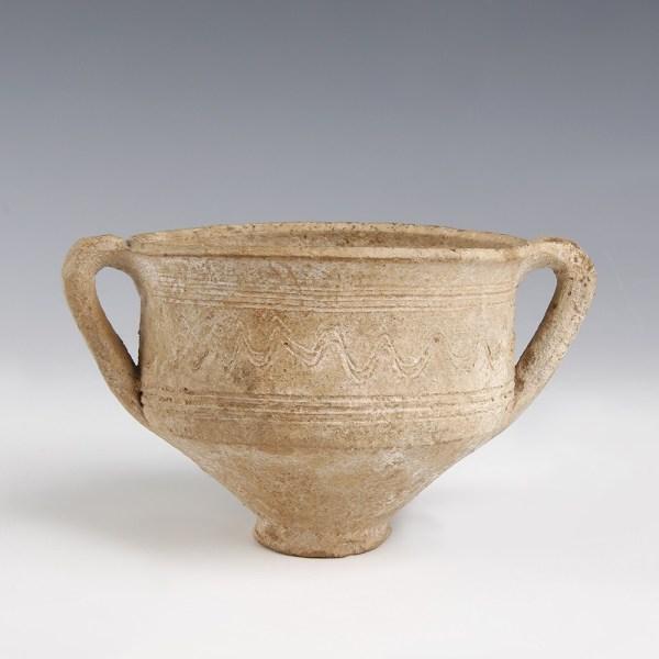 Ancient Roman Two Handled Terracotta Bowl