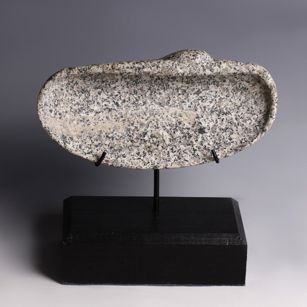 Ancient Egyptian Diorite Shell Bowl