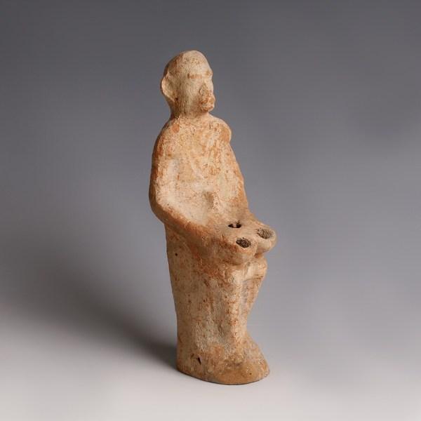 Roman Terracotta 'Plastic' Lamp of a Monkey