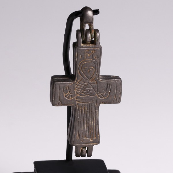 Byzantine Reliquary Cross with Mary