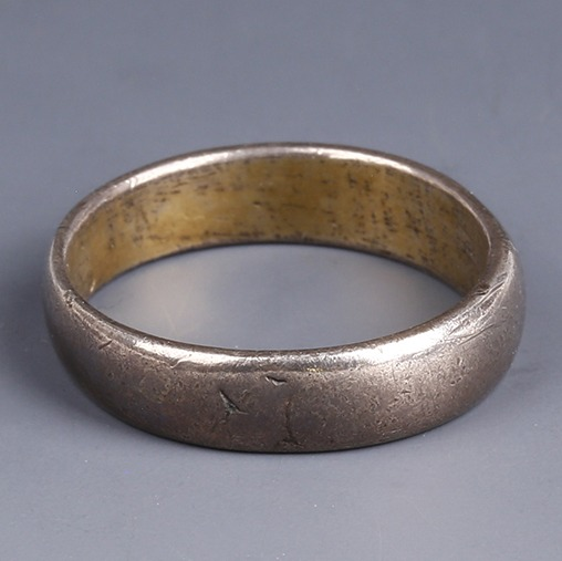 Medieval Gilded Silver Posy Ring