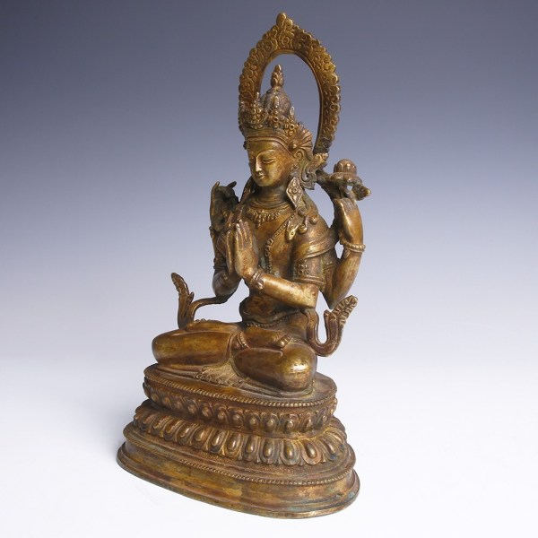Bronze Statue of Buddha in Lotus Position
