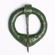 Viking Bronze Penannular Brooch with Geometric Design