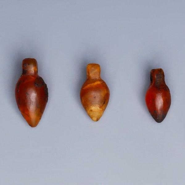egyptian carnelian heart amulets