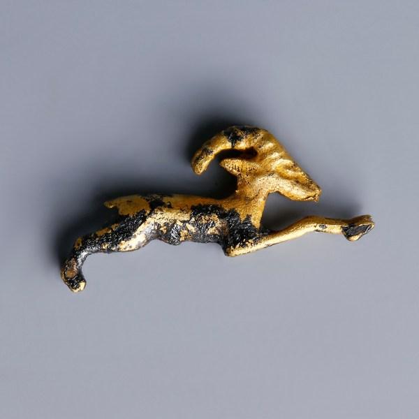 Egyptian Gold Ibex Amulet