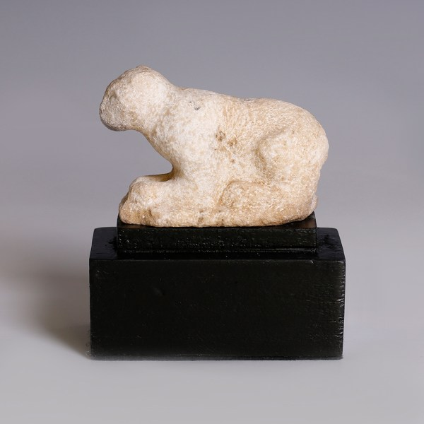 Early Dynastic Alabaster Feline Sculpture