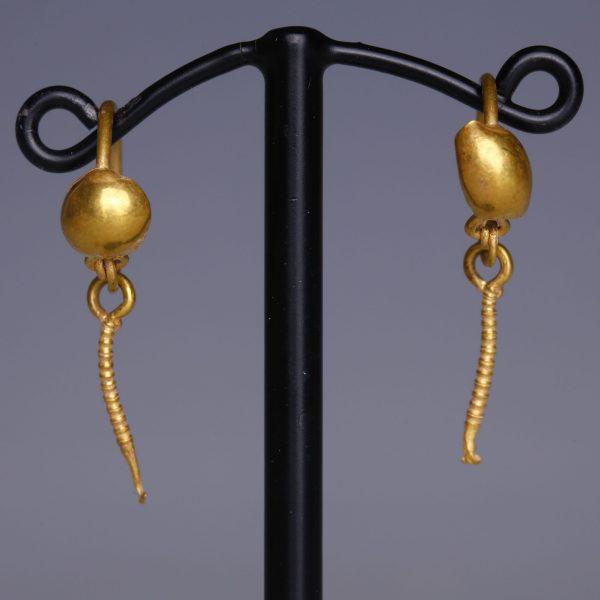 Roman Gold Disc Earrings
