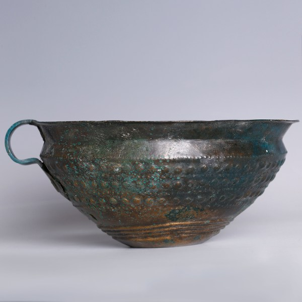 European Bronze Age Cup with Geometrical Decoration