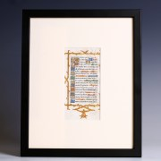 Framed Medieval Litany of the Saints Leaf