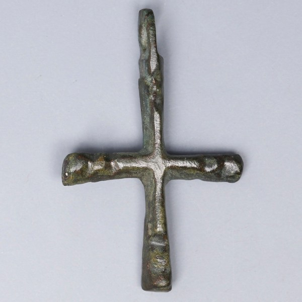 Late Roman-Early Byzantine Bronze Cross Pendant