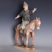 Chinese Qing Dynasty Horse Rider Statuette