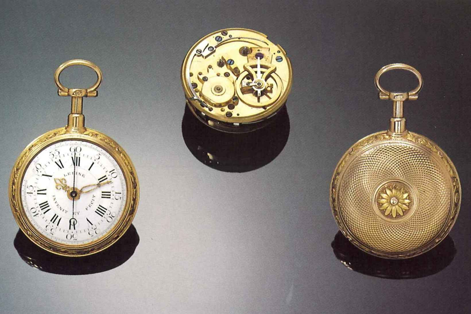 lepine horloger du roy a paris invenit et fecit no 3053 paris hallmarks for 1778 very rare and fine 18 ct two coloured gold early quarter