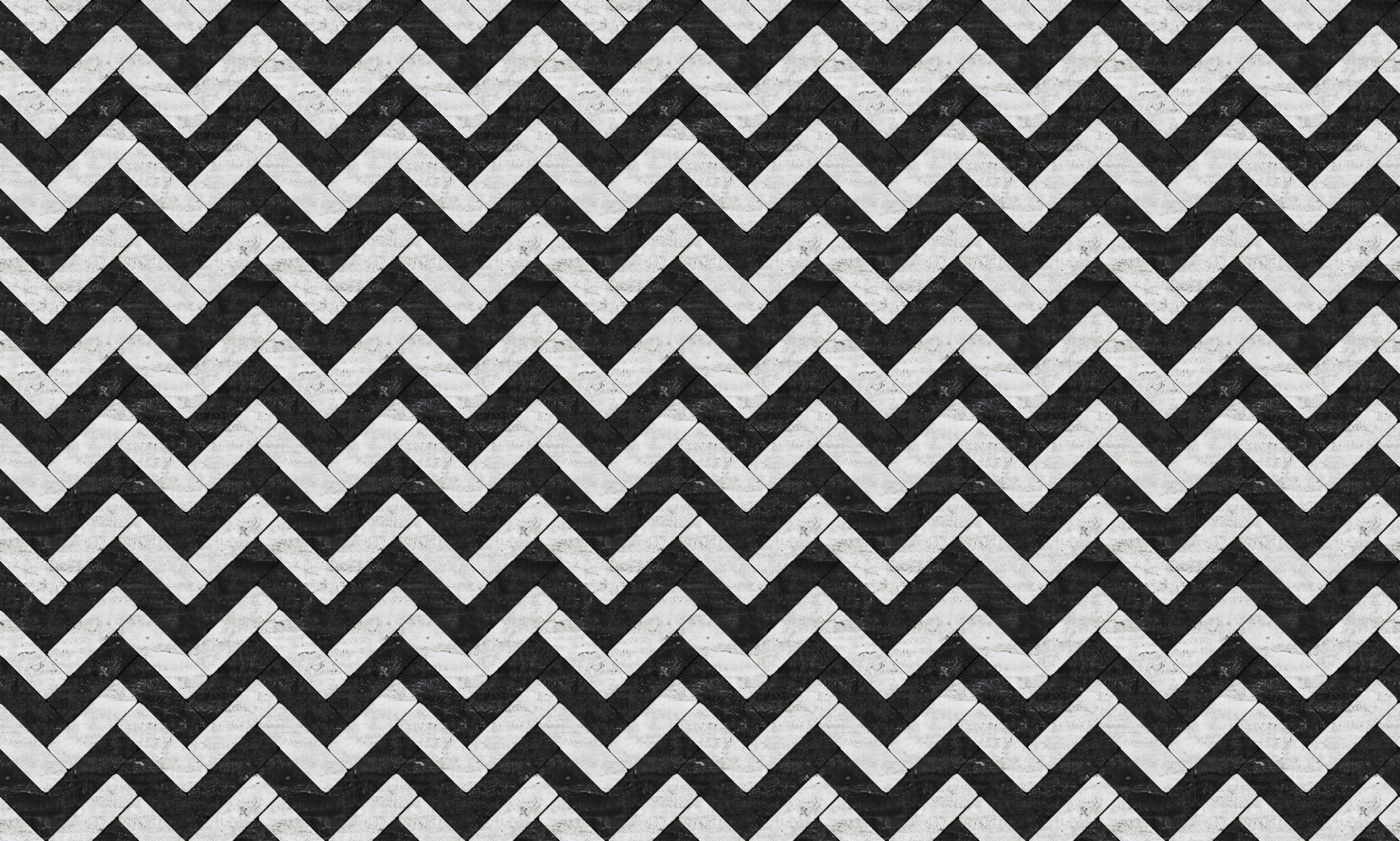 black and white marble tile chevron o o