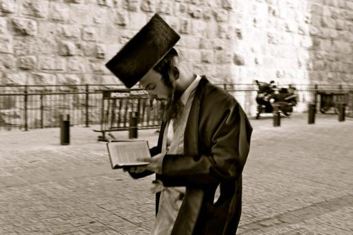 @hisnhertravel of Spain caught this Orthodox Jew in Jerusalem. Like many in the orthodox community, they pointed out, studying and praying IS their daily routine. Many of them do not have traditional jobs: http://hisandhertravel.co/image/23940018210