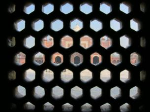 Tamara @TurtlesTravel) of the USA shot this photo from inside a room at the Taj Mahal: pic.twitter.com/dgHI7vpjfe
