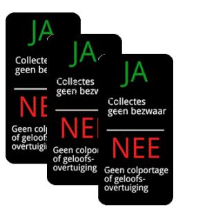 foto meerdere ja nee anti verkoop stickers