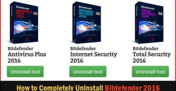Bitdefender Uninstall tool: How to Completely Uninstall Bitdefender 2016