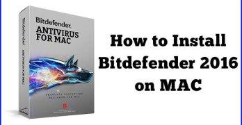 install bitdefender on Mac