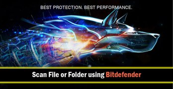 How to Scan Files or Folders using Bitdefender 2016