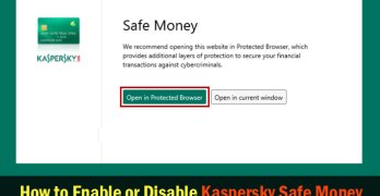 How to Enable or Turn Off/Disable Kaspersky Safe Money