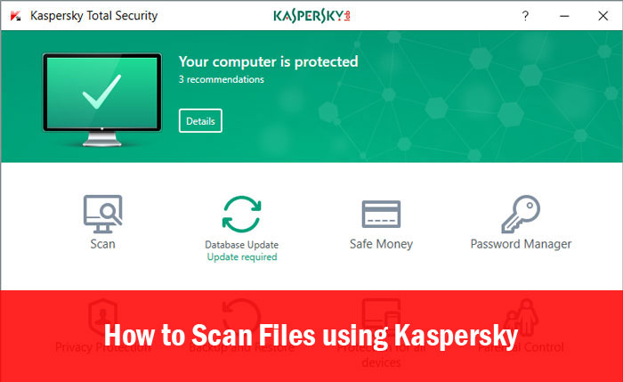 Scan Files using Kaspersky