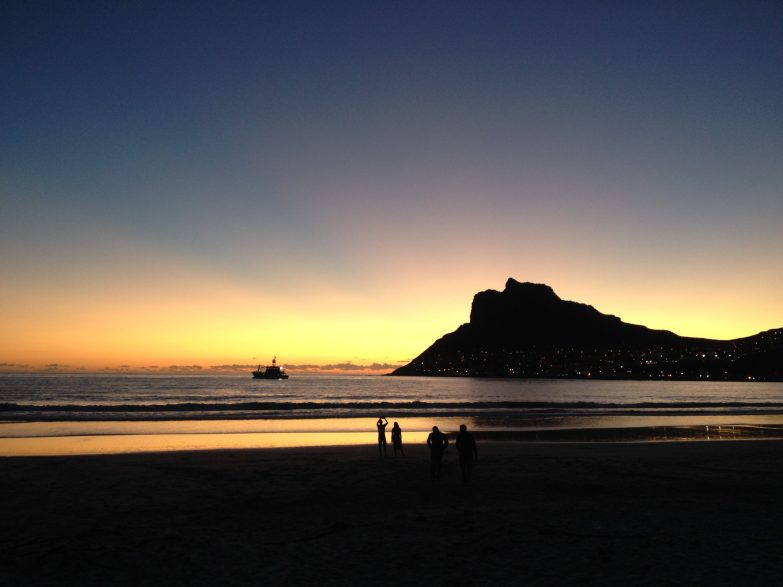 Sunset over Hout Bay.
