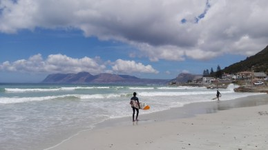 Muizenberg Beach - one of Cape Town's most famous beaches.