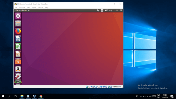 Running Ubuntu Virtual Machine on Windows