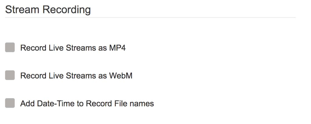 ant media server stream recording settings