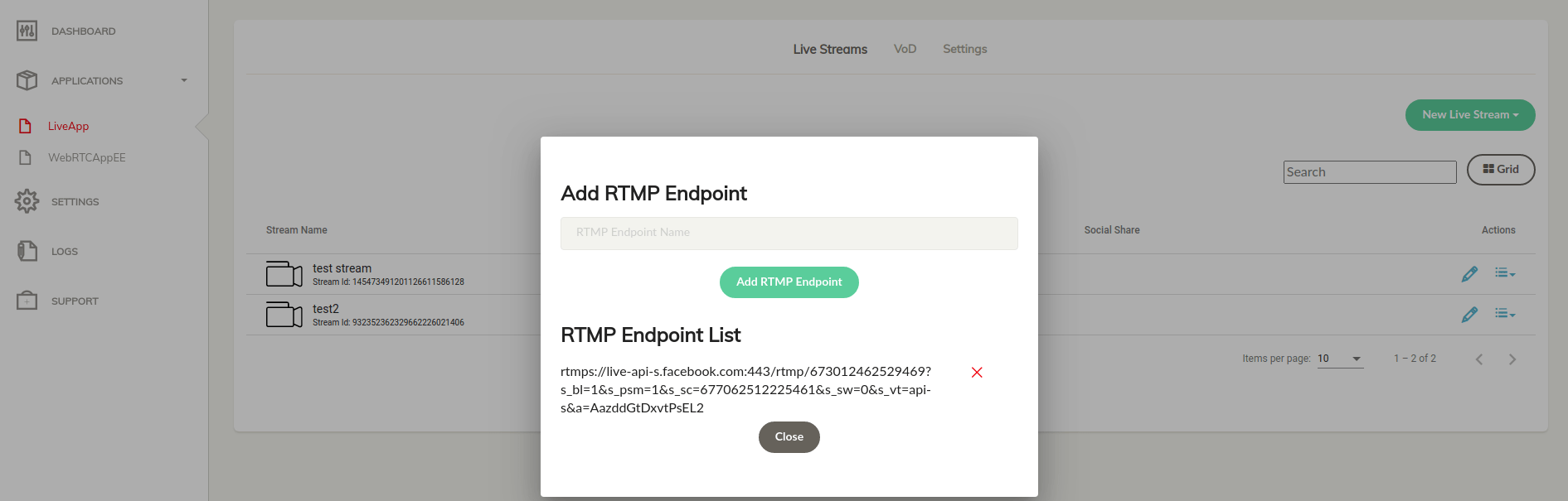 ant-media-dashboard-add-facebook-rtmp-endpoint