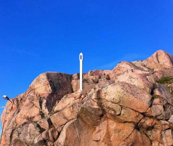 Synål i sten Hunnebo