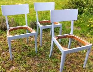Blå stolar