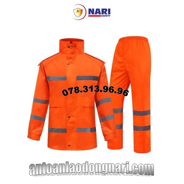 áo mưa phản quang màu cam cảnh sát