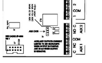 NetworX Security ,sử dụng các Ngõ ra AUX 1-2 của hệ thống