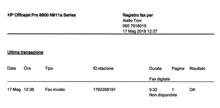 Fax Studio Legale avvocato Antoci