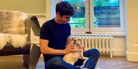 Antoine BM avec son chien