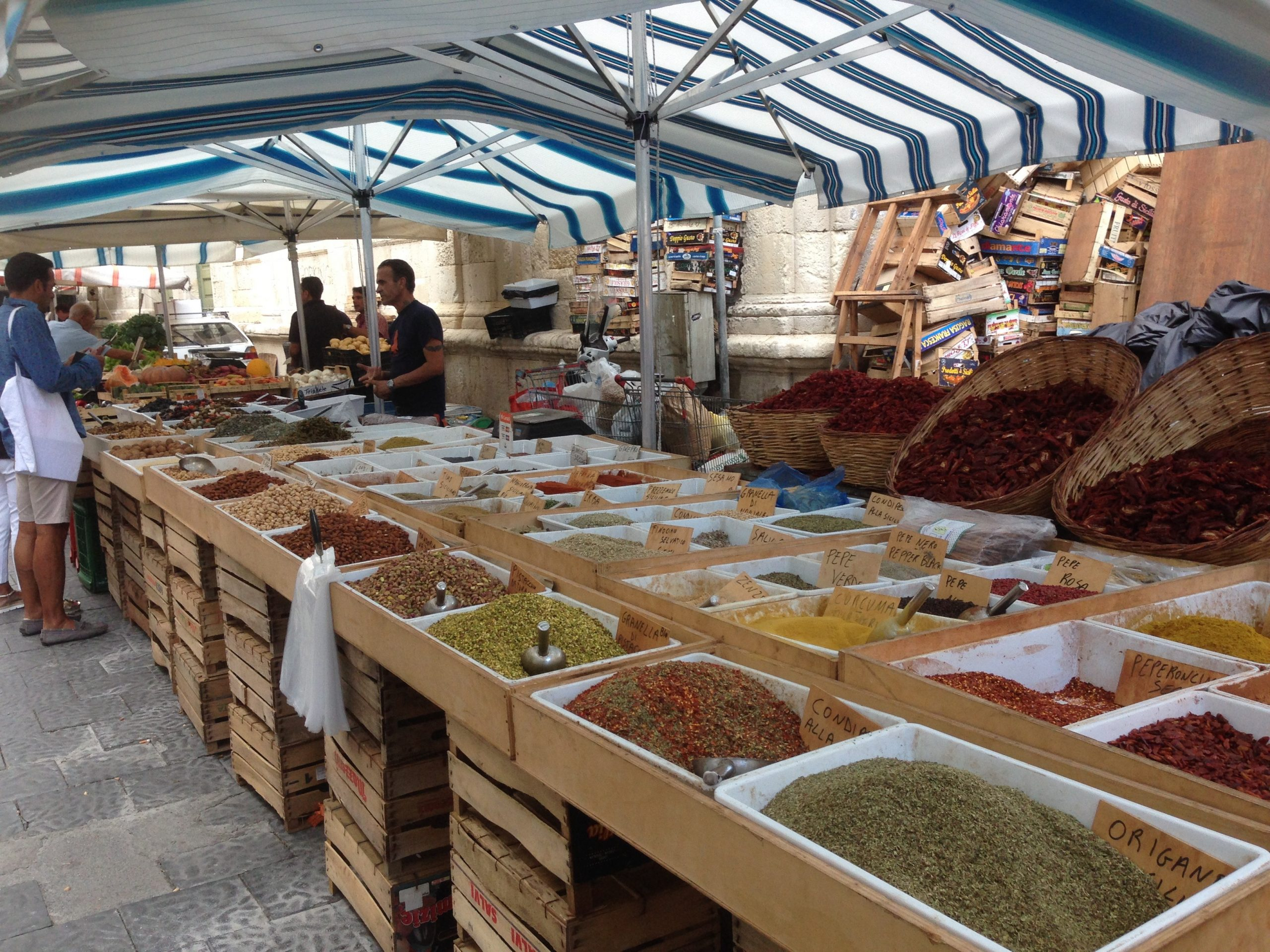 Life Coach working and living in Sicliy - food markets in Sicily.
