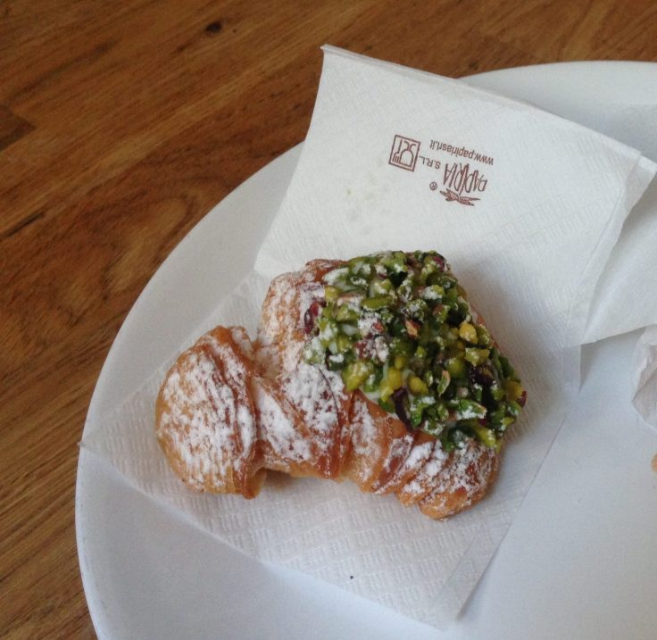 Sweet pastires with pistacchio from Sicily