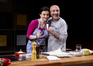 with director Rob Ruggiero in I LOVED, I LOST, I MADE SPAGHETTI at Hartford TheaterWorks