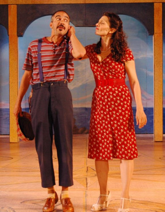 as Adriana with Evan Zes in THE COMEDY OF ERRORS at Shakespeare on the Sound, directed by Ezra Barnes