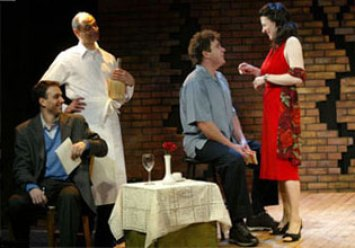 as Maria with Ralph Macchio, Ed Chemaly and Michael Rispoli in MAGIC HANDS FREDDY at Soho Rep